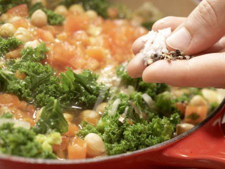 Klare Grünkohlsuppe: Zubereitungsschritt 8