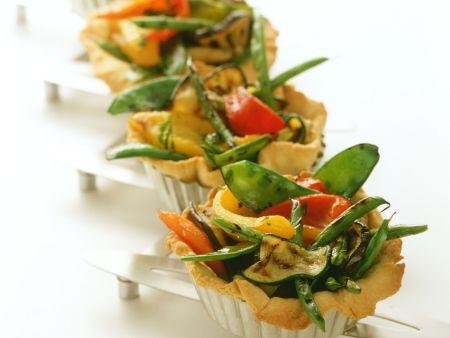 Rezept: Kleine Gemüsekuchen