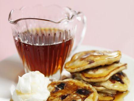 Kleine Heidelbeer-Pfannkuchen