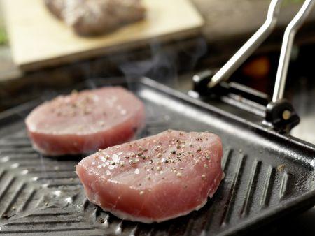 Kleine Kalbsrückensteaks und Thunfisch: Zubereitungsschritt 10