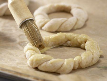 Kleine Osterkränze: Zubereitungsschritt 8