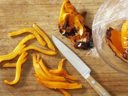 Kleine Paprika-Pizzen: Zubereitungsschritt 4