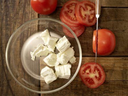 Kleine Paprika-Pizzen: Zubereitungsschritt 5