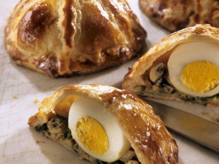 Kleine Pasteten mit Ei