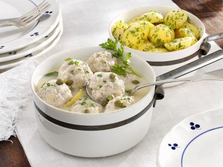 Rezept: Klopse nach Königsberger-Art mit Petersilienkartoffeln