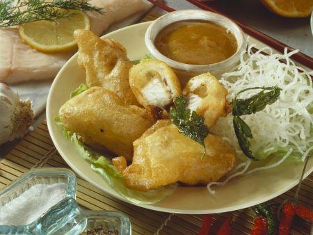 Knusper-Fisch mit frittierten Glasnudeln