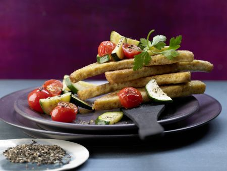 Knusprige Brotecken in Olivenöl