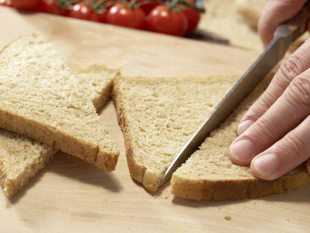 Knusprige Brotecken in Olivenöl: Zubereitungsschritt 2