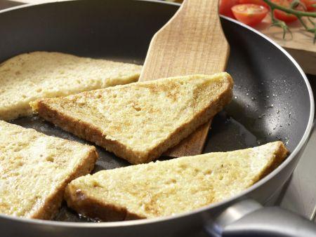 Knusprige Brotecken in Olivenöl: Zubereitungsschritt 5