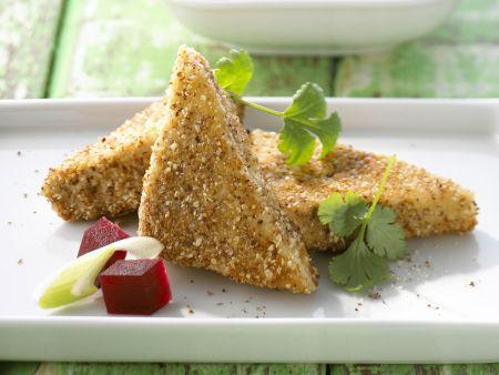 Knuspriger Tofu mit Roter Bete