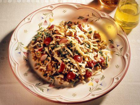 Körnersalat mit Gemüse