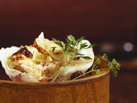 Kohlgratin mit Maroni und Kalbfleisch