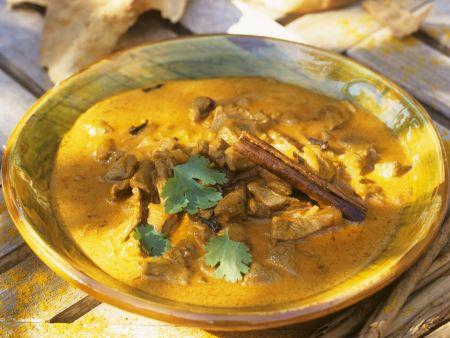 Kokos-Curry mit Schweinefleisch