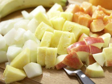 Kokos-Milchreis mit Obstsalat: Zubereitungsschritt 4