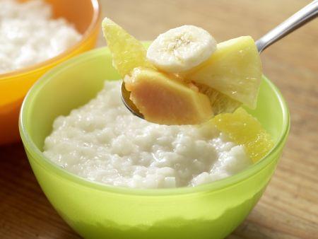 Kokos-Milchreis mit Obstsalat: Zubereitungsschritt 6