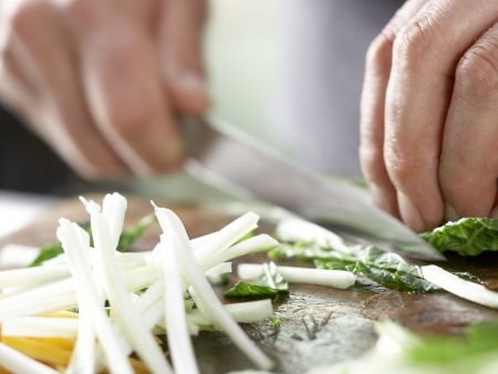 Koreanischer Pfannkuchen: Zubereitungsschritt 6