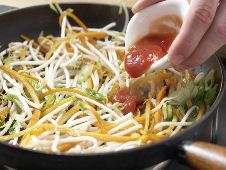 Kotelett mit Chinagemüse: Zubereitungsschritt 11