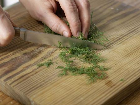 Krabbensuppe mit Erbsen: Zubereitungsschritt 7