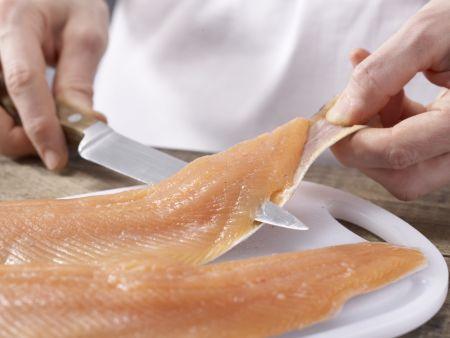 Kräuter-Forellenfilets: Zubereitungsschritt 6