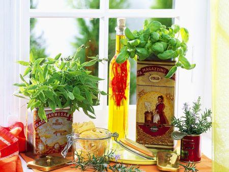 Rezept: Kräuter-Tagliatelle mit Chiliöl