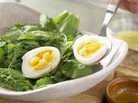 Kräutersalat mit Ei: Zubereitungsschritt 6