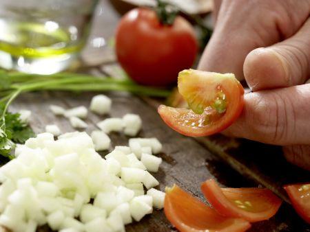 Krebssalat-Türmchen: Zubereitungsschritt 8
