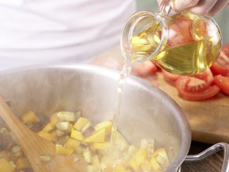 Kürbis-Auberginen-Gemüse: Zubereitungsschritt 4