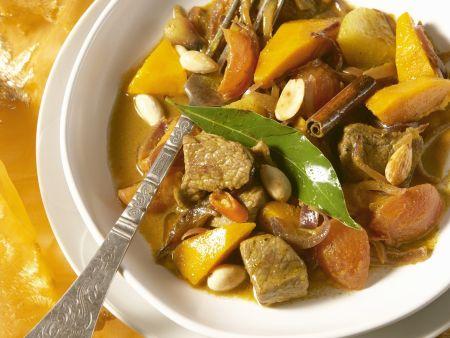 Kürbis-Curry mit Lamm