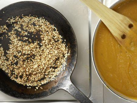 Kürbis-Ingwer-Suppe: Zubereitungsschritt 7