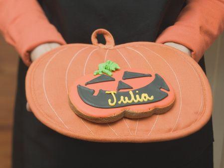 Kürbis-Keks zu Halloween