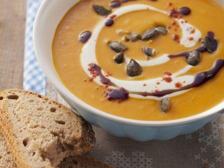 Kürbis-Paprika-Cremesuppe