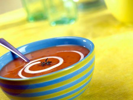 Kürbis-Tomatensuppe