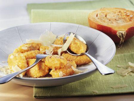 Kürbisgnocchi mit Parmesan
