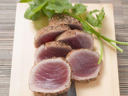 Kurzgebratener Thunfisch