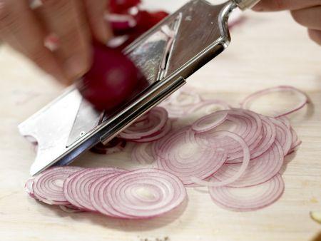 Lachs auf buntem Bohnensalat: Zubereitungsschritt 4