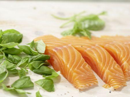 Lachs auf buntem Bohnensalat: Zubereitungsschritt 8