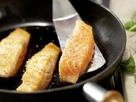 Lachs auf buntem Bohnensalat: Zubereitungsschritt 9
