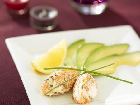 Lachs-Frischkäse und Avocado