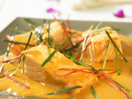 Lachs in Currysauce