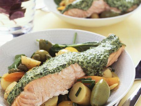 Lachs mit Kartoffelsalat