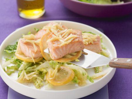 Lachs mit Zitrone und Ingwer