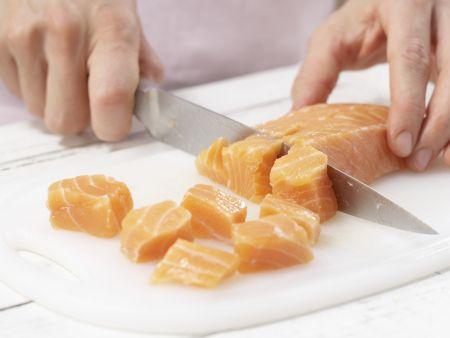 Lachs-Spinat-Pfanne: Zubereitungsschritt 7