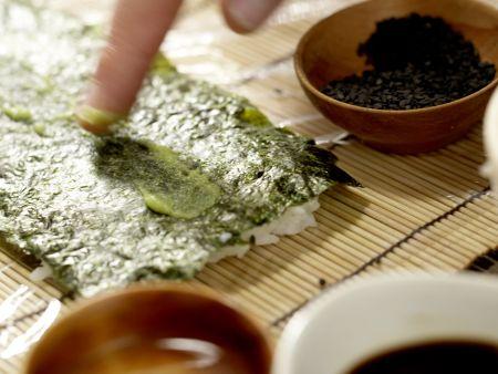 Lachs-Sushi: Zubereitungsschritt 7