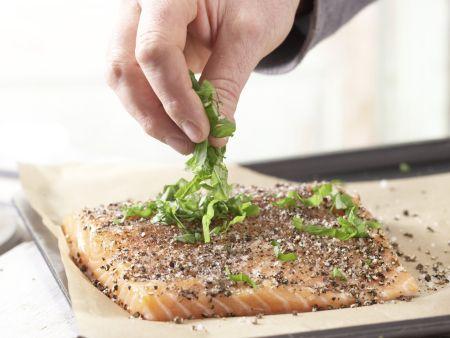 Lachsfilet aus dem Ofen: Zubereitungsschritt 4