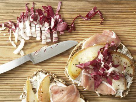 Lachsschinken-Frischkäse-Brote: Zubereitungsschritt 4
