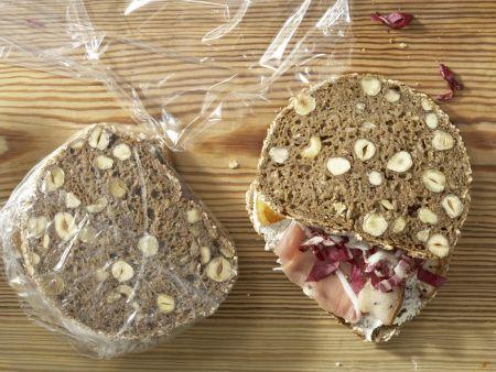 Lachsschinken-Frischkäse-Brote: Zubereitungsschritt 5