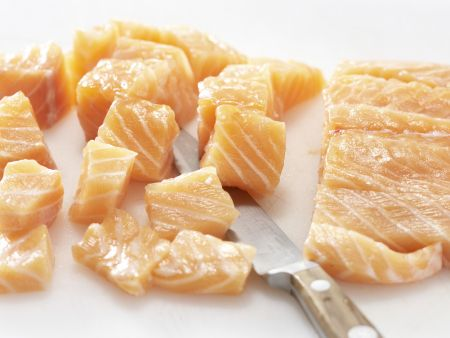 Lachsspieße mit Möhrensalat: Zubereitungsschritt 6