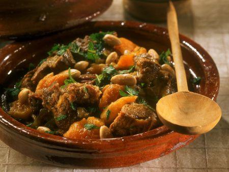 Lamm mit Aprikosen und Mandeln aus der Tajine