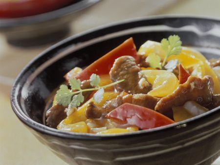 Rezept: Lamm und Paprika aus dem Wok