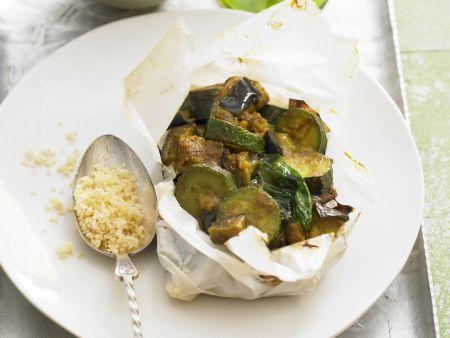 Lamm, Zucchini und Couscous aus der Tajine